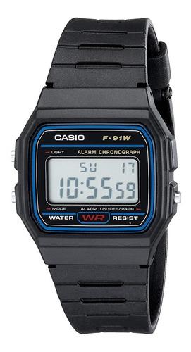 Reloj Casio F-91wm-1b Unisex Deportivo Garantía Originalidad