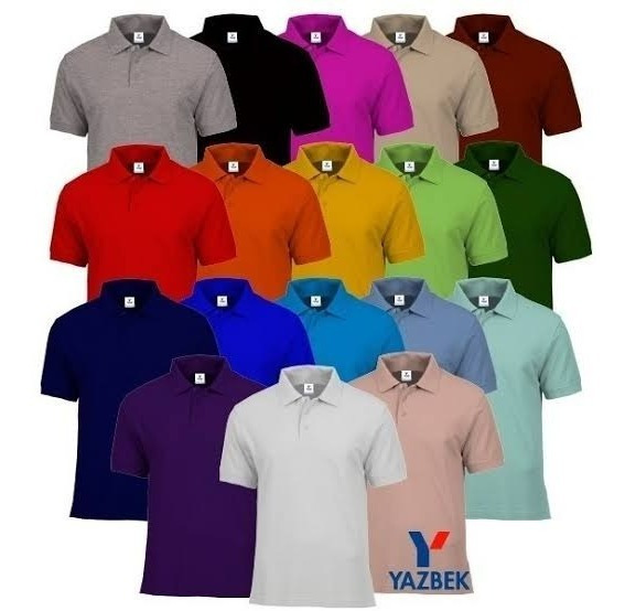Playera Polo Yazbek Dama Y Caballero 18 Colores Disponibles