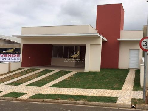 Casa  Residencial À Venda, Condomínio Costa Das Areias ,jardim Bandeirantes, Salto. - Ca0066