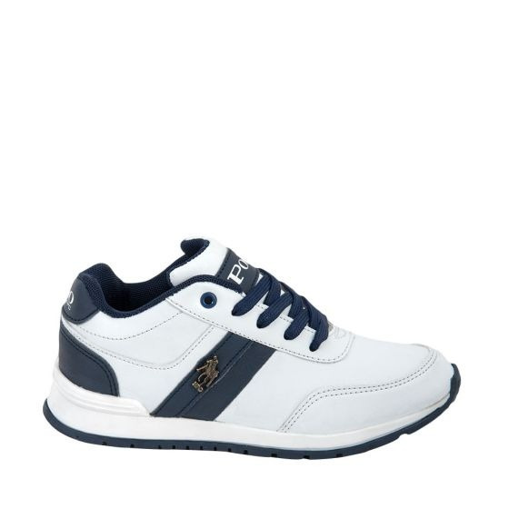 Tenis Casual Hpc Polo 2051 Niño Blanco 179368 Ps