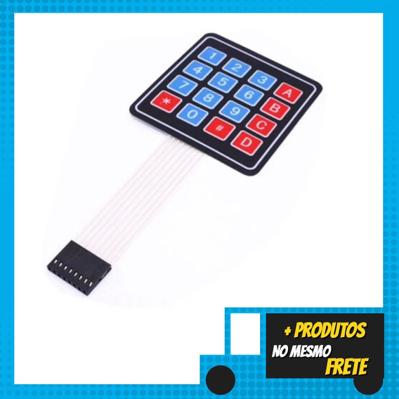 Teclado Matricial De Membrana 4x4 16 Teclas Arduino Pic