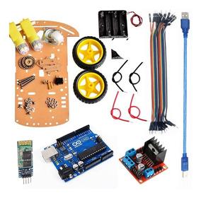 Kit Carrinho Robô Arduino Bluetooth Completo