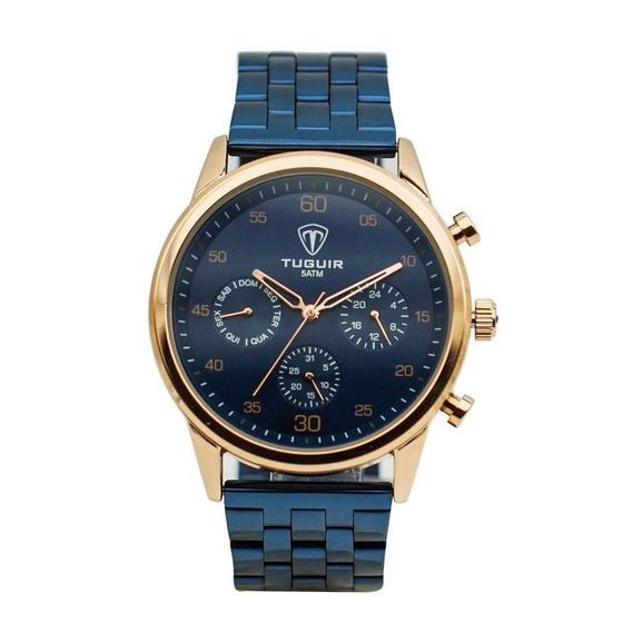 Relógio Masculino Tuguir 5327g Azul