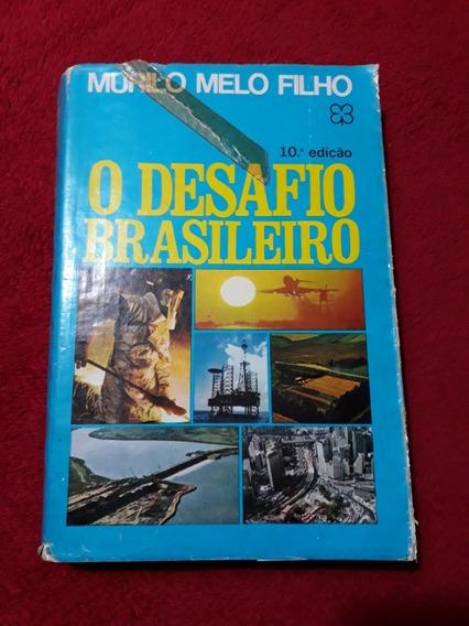 Livro Desafio Brasileiro 1971 - 10* Edição Murilo Melo Filh