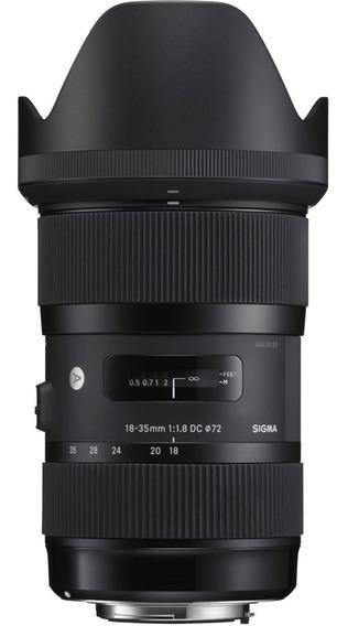 Lente Sigma 18-35mm F/1.8 Dc Hsm Para Canon - Com Nf *