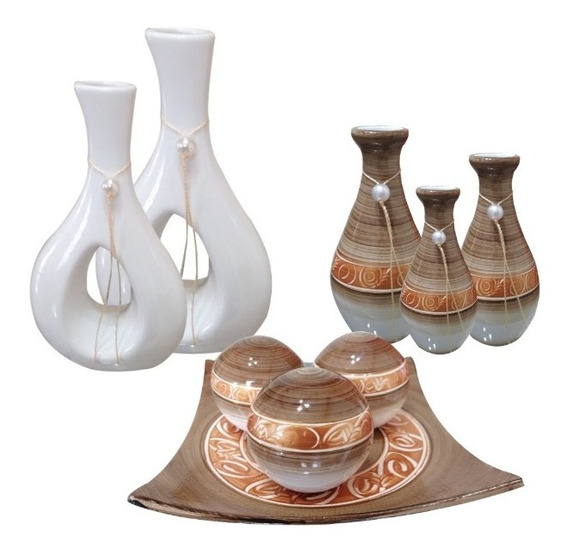 Jogo Ceramica Completo Para Decoração De Sala Vermelho.mesa