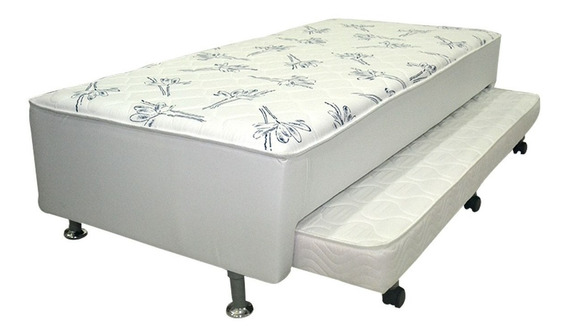 Conjunto Box+colchão Conjugado Ortobom Ortopédico C/auxiliar Branco Solteiro 88
