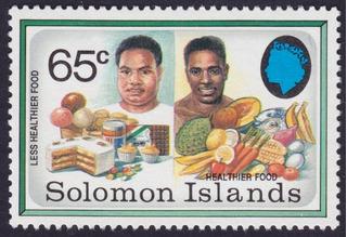 Postale Solomon Islands Less Heal Thier Food Zignauko Des30