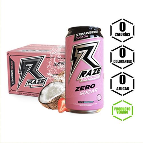 Raze Energy Frutilla Colada 12 Unidades (incluye Despacho)