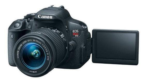 Câmera Canon T5i + Lente 18-55mm + Tripé 1,20m + Sd 32gb