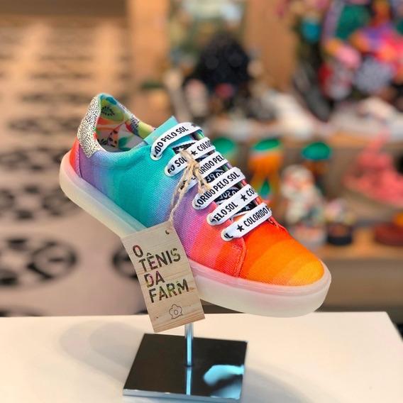 Tênis Farm Rainbow Arco Íris - Coleção Verão 2020 - Lj B M