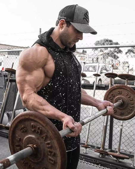 Fleck Abierta Espalda Tank Gimnasio Crossfit Fitness Chaleco Slw
