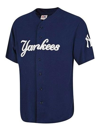 Playera Jersey Beisbol Yankees Caballero Majestic Mjrs-ny T4