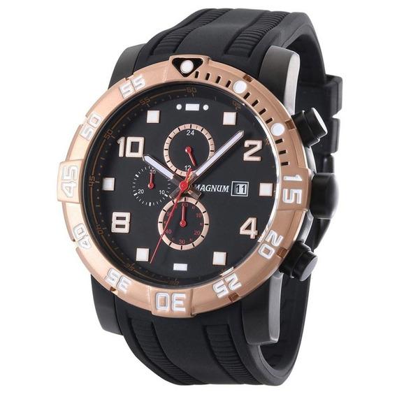 Relógio Masculino Magnum Oversized Ma34174d - Preto/marrom