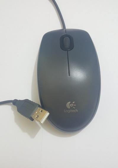 Mouse Usb Logitech M90 Preto E Grafite