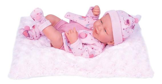 Boneca Tipo Bebe Reborn Menina Realista Cabelo E Certidão