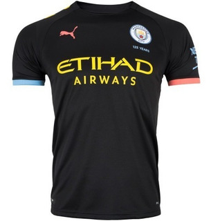 Camisa Manchester City Preta 2019/2020 S/n Pronta Entrega