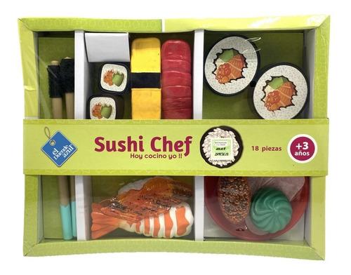 El Duende Azul Set Sushi Chef 18 Piezas Art 6613 Loonytoys