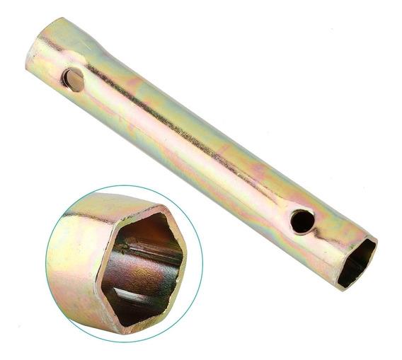 Fydun Buj/ía de la Llave de Vaso doble extremo 16//18 mm 130 mm galvanizado de gran alcance llave de z/ócalo herramientas de reparaci/ón de neum/áticos para la motocicleta y autom/óviles