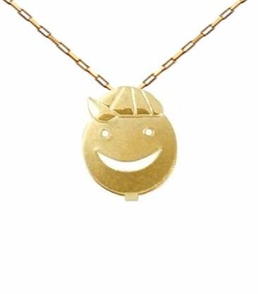 Corrente De Ouro 18k 50cm + Pingente Menino Cara Viagold L07