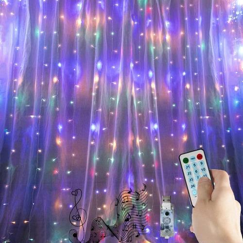 Música Serie Cortina Luces Led Metros Bodas Navidad Fiesta