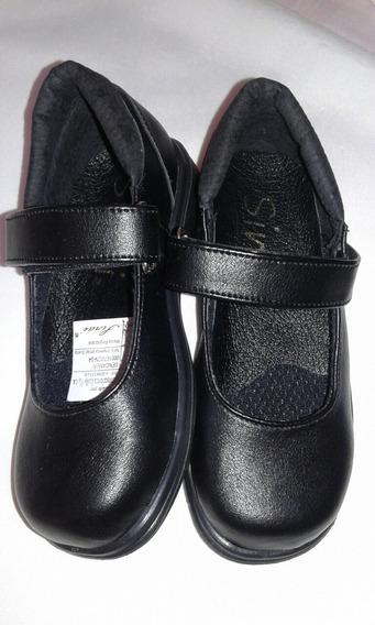 Zapatos Colegiales Escolares Niña Talla 30. Ref 706