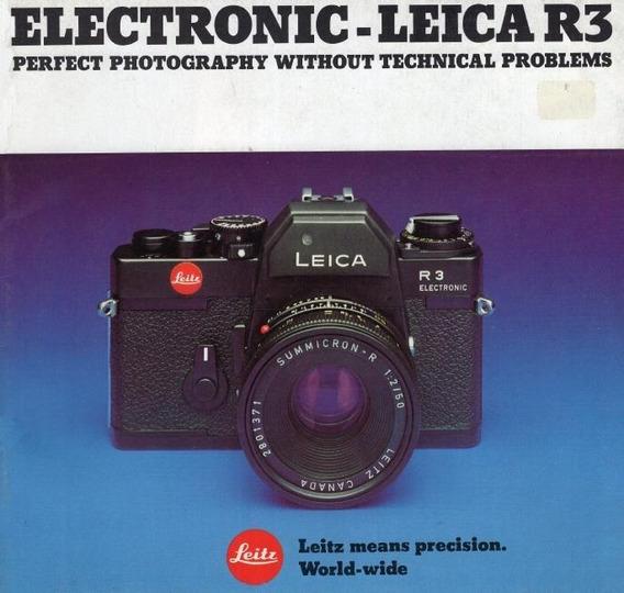 Leica R3 Electronic Manual De Instruçoes. Ingles Pdf 1,99r$