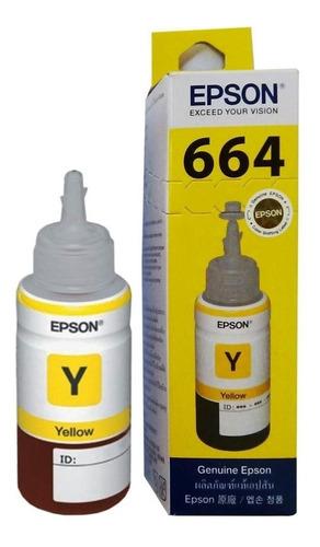 Imagen 1 de 6 de Tinta Epson T664  Original Botella 70ml  Rojo/azul/amarilla
