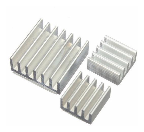 (8 Kits) 3 X Dissipador Alumínio Para Raspberry Pi2 Pi3