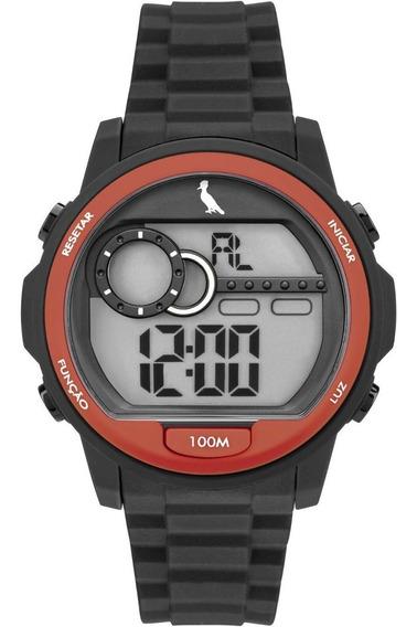 Relógio Reserva Preto E Vermelho Re14627/8a