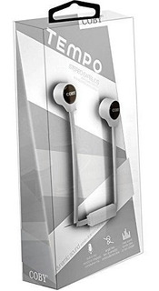 Coby Cve120wht Tempo Stereo Earbuds Blanco
