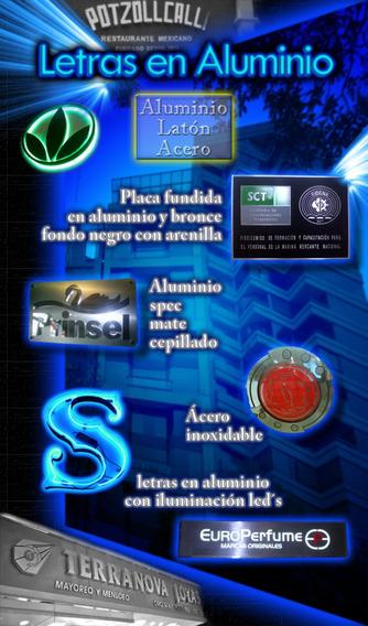 Letras Y Logotipos En Aluminio 3d Spec Leds Laton Y Acero