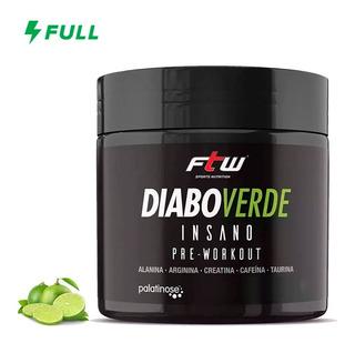 Pré Treino Diabo Verde Insano Energia 300g - Promoção Ftw