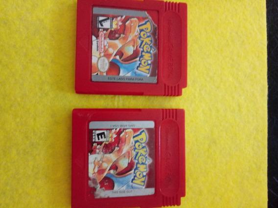 Pokemon Red Americano Original Game Boy 170 Cada