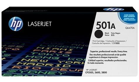 Cartucho De Tóner Original Laserjet Hp 501a Negro (q6470a)