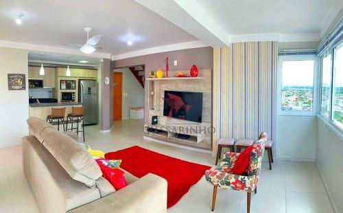 Imagem 1 de 30 de Cobertura Com 3 Dormitórios À Venda, 206 M² Por R$ 1.500.000,00 - Praia Grande - Torres/rs - Co0217