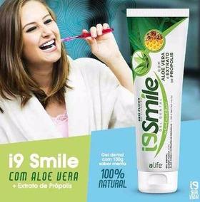4unid.gel Dental I9 Smile 100% Natural-mel-própolis-aloevera