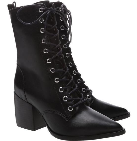 Bota Schutz Lace-up Combat Boots Black