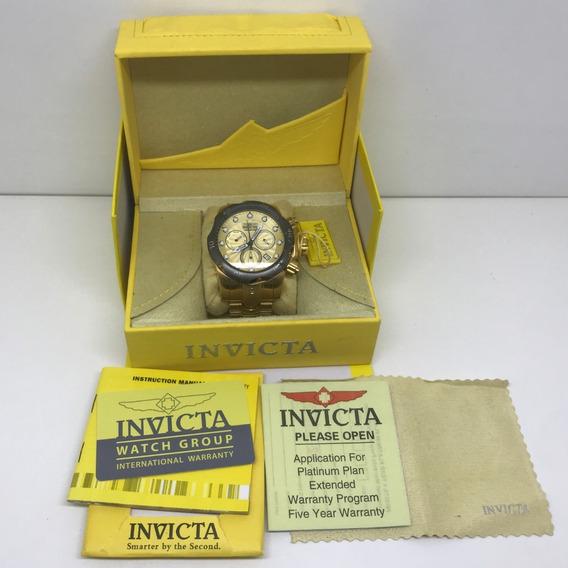 Invicta Venom Ouro Original Com Caixa Manual Dourado