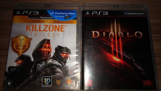 2 Jogos Ps3 Killzone Trilogy E Diablo 3