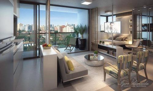 Imagem 1 de 7 de Studio Decorado Em Pinheiros, 1 Dorm. 1 Suíte, 2 Vagas, Lazer Completo - St0147