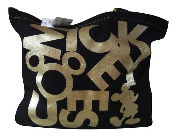 Bolsa Mickey Disney 100% Original E Importada Com Dourado