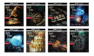 Harry Potter 4k Ultra Hd + Bluray Coleccion 1-8 Completa