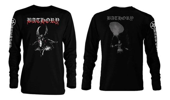 Playera Bathory Goat Manga Larga Black Burzum Dimmu