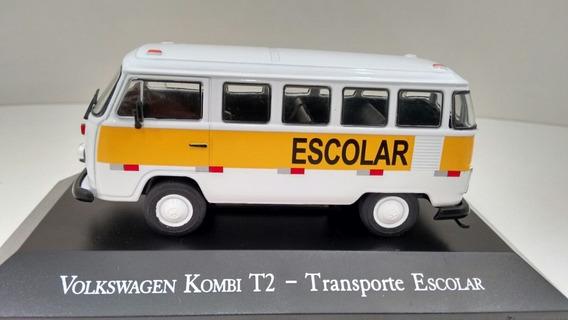 Vw Kombi Escolar Ixo 1:43 Carros Inesquecíveis Miniaturas