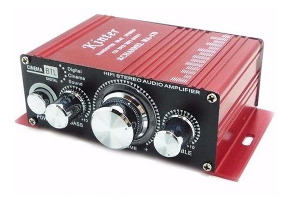 Mini Modulo Amplificador 2 Canais Carro Barco Mp3 Home