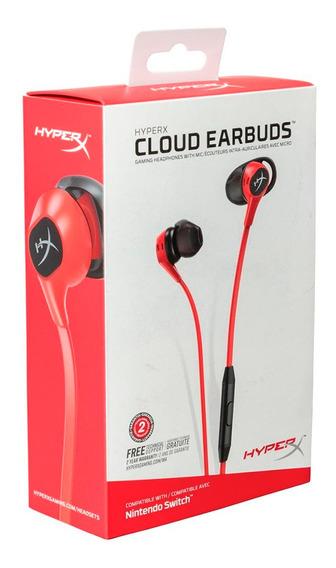 Fone De Ouvido Intra-auricular Gamer Hyperx Cloud Earbuds