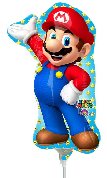 4 Globos Mario Bros 14 In Centro Mesa Fiesta Nintendo Decora