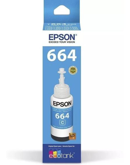 50 Epson T664 Cyan Originais L220 L395 L455 L380 L130