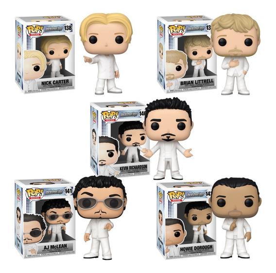 Funko Pop Nick, Aj, Braian, Kevin Y Howie Backstreet Boys